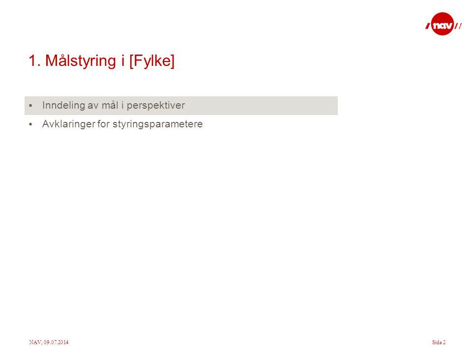 1. Målstyring i [Fylke] Inndeling av mål i perspektiver